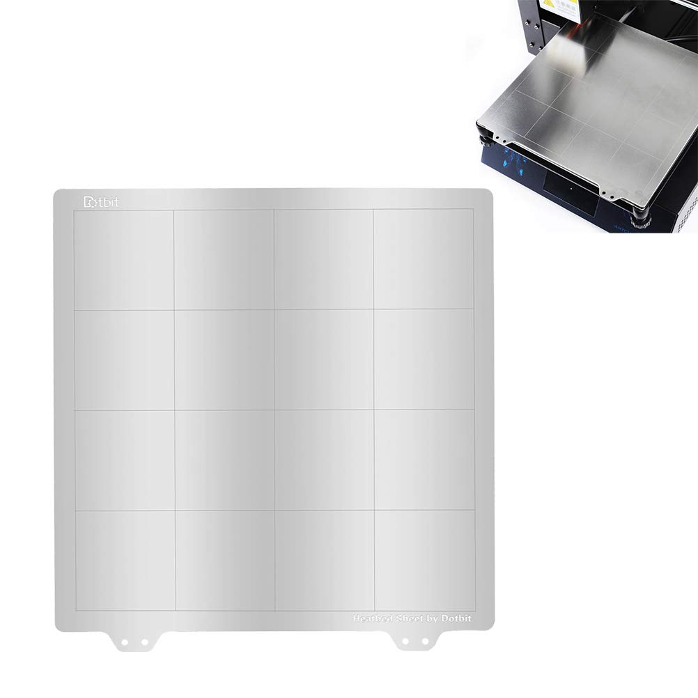 UKCOCO Plataforma de impresora 3D, placa de acero de ...