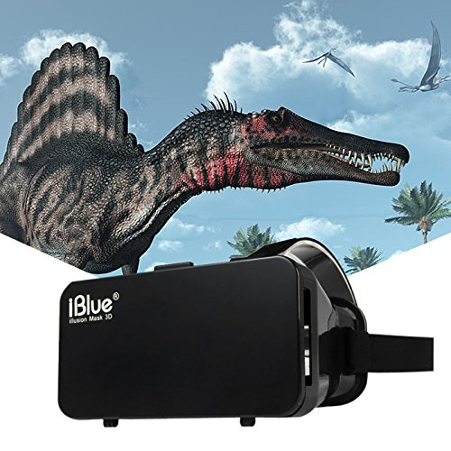 iBlue Universal 3D Virtual Reality VR Glasses Private Theater Box for 3.5 - 7 inch Google Glasses Headset Smartphone