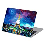 Customized Famous Painting Series Eiffel Tower Paris City France Landmark Special Design Removable Vinyl Decal Top Front-cover Sticker Skin for Macbook Air 11'' (Model A1370/a1465)