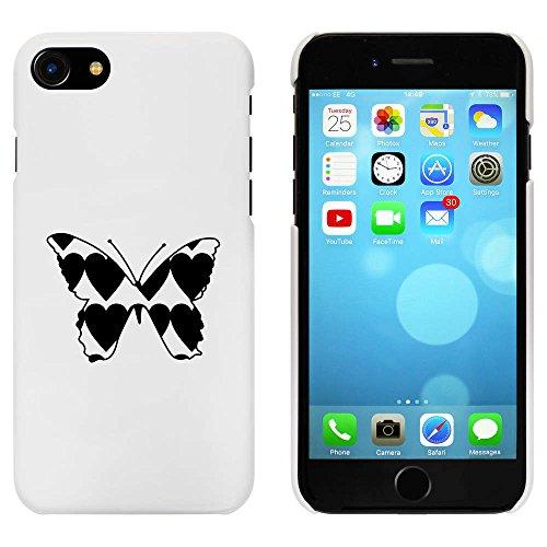 Blanc 'Coeur Papillon' étui / housse pour iPhone 7 (MC00058744)
