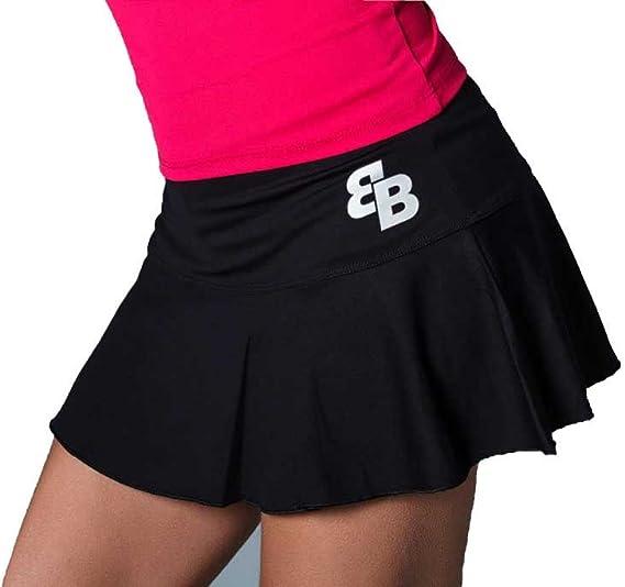 Desconocido Falda Basica Chica Negra para Tenis Y Padel - M ...