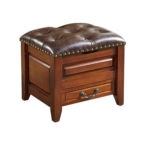Amazing Amazon Com Retro Storage Ottoman With Hinged Lid Leather Inzonedesignstudio Interior Chair Design Inzonedesignstudiocom