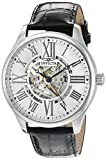 Invicta Men's Vintage Automatic Stainless Steel and Leather Casual Watch, Color:Black (Model: 22566)