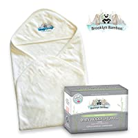 Brooklyn Bamboo Baby Hooded Towel, Soft, Hypoallergenic Thick, Organic, Infan...