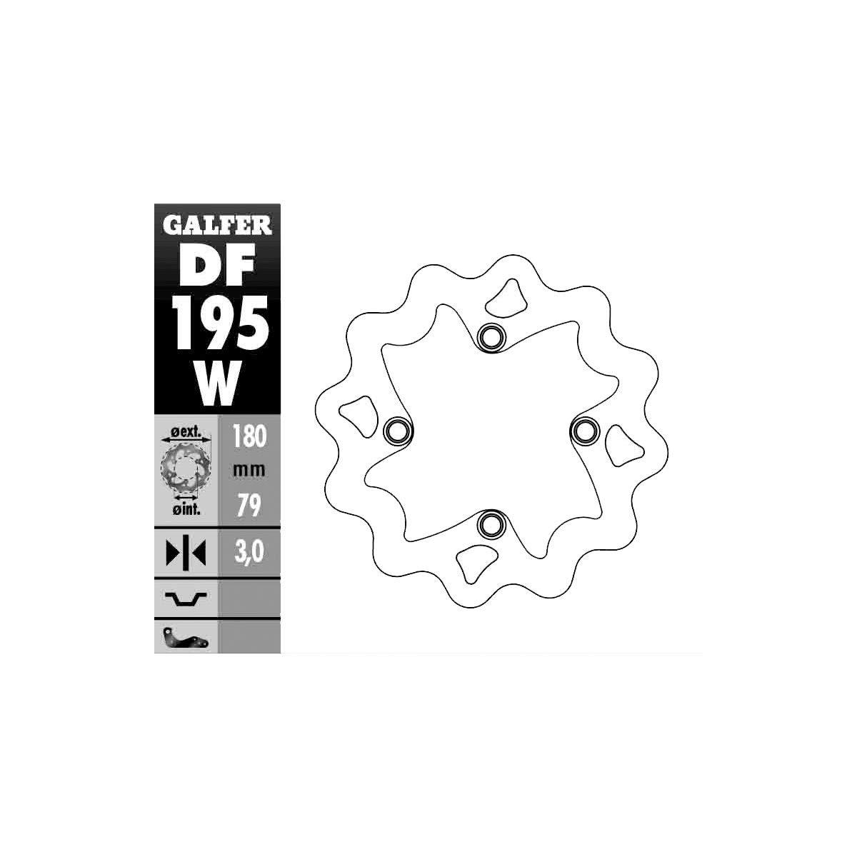 00-19 KAWASAKI KX65: Galfer Standard Wave Brake Rotor - Rear DF195W