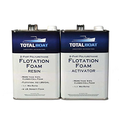 60 Sec Epoxy (TotalBoat Liquid Urethane Foam Kit 6 Lb Density, Closed Cell for Flotation & Reinforcement (2 Gallon Kit))