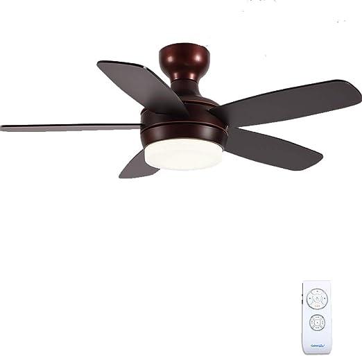 Lámpara de Techo LED for Ventilador de Techo Estilo nórdico Lámpara de Ventilador eléctrico Adecuado for el Dormitorio Sala de Estar jardín de Infantes iluminación: Amazon.es: Hogar