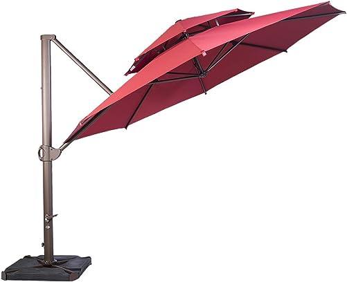 SORARA 11.5ft Cantilever Umbrella Offset Hanging Umbrella Dual Vent