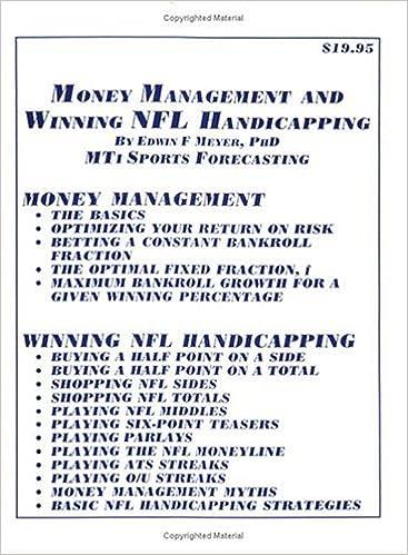 Money Mangement and Winning NFL Handicapping: 9781933135021