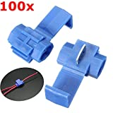 BephaMart 100pcs Blue Scotch Lock Quick Splice Wire Connector Terminal Crimp Shipped and Sold by BephaMart