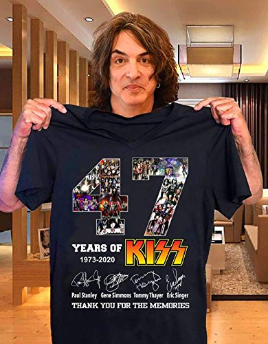 47 Years of Kiss Signature Shirt - End Of the Road The Final World Tour - Perfect Gift Idea For Fans Kiss Band Lovers1