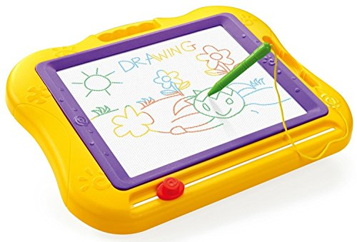 Magnetic Drawing Board, VICTHY Erasable Portable Colorful Magnetic Doodle Board for Kids Learning Painting - Large Size (Yellow)
