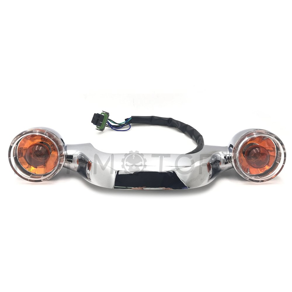 HTTMT MT444-001 Domestic Bullet Rear Light Bar Compatible with 10-later Street Glide w//Orig.turn signal Amber