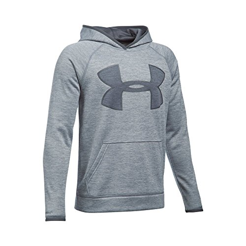 Under Armour Boys' Storm Armour Fleece Twist Highlight Hoodie, Steel/Graphite, Youth X-Large