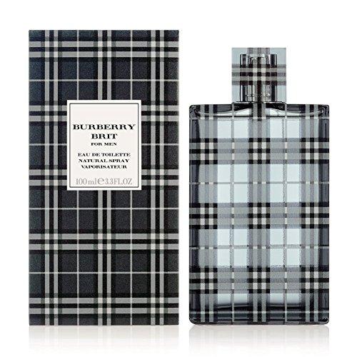 Burberry Brit Men Eau de Toilette Spray for men. EDT 3.3 fl oz / 100 ml (Chanel Sheer Perfume)