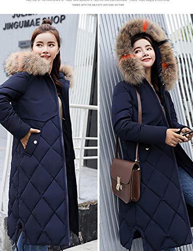 Piel Sólido Chaqueta Outwear Moda De Keelied Manga Larga Gruesa Abrigo Capucha Azul Mujeres Con Casual Abrigos q0pwSg