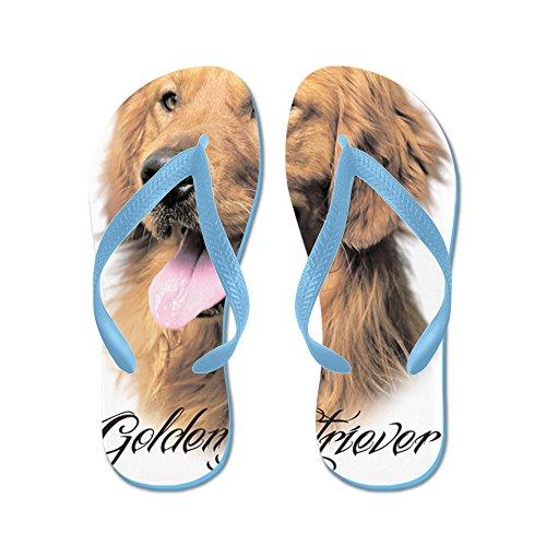 Cafepress Scriptgolden - Flip Flops, Roliga Rem Sandaler, Strand Sandaler Caribbean Blue
