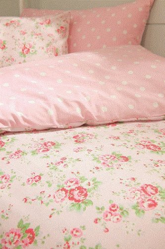 cath kidston pink spray and spot reversible duvet cover pillowcase