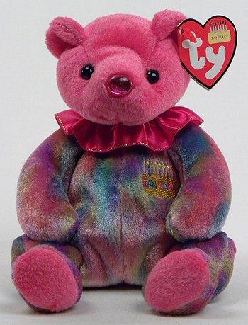 Ty Beanie Baby January Garnet Birthstone Teddy Happy Birthday Bear