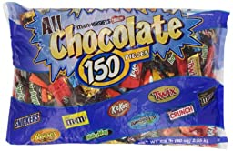 Hershey\'s All Chocolate Pieces, 150 Pcs, 90 Ounce Bag