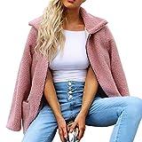Dainzuy Ladies Sexy Casual Coat,Women Artificial Wool Coat Zipper Jacket Winter Parka Outerwear