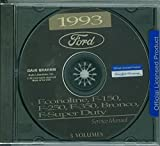 1993 FORD TRUCK, PICKUP & VAN FACTORY REPAIR SHOP & SERVICE MANUAL CD - INCLUDES Bronco, F-150, F-250, F350, Econoline E-150, E-250, E-350, F-Super Duty -COVERS Engine, Body, Chassis & Electrical. 93