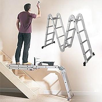 Aluminio Multifunción Escalera – Escalera Escaleras, andamios Escalera Andamio Escalera: Amazon.es: Bricolaje y herramientas