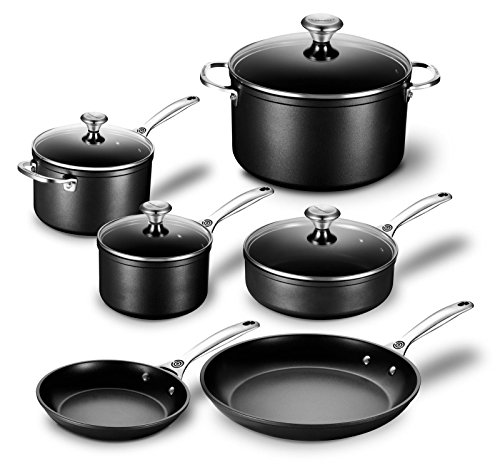 Le Creuset Toughened Nonstick 10 Piece Cookware Set (Le Creuset Sauce Pan Set)