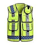 Liveinu High Visibility Vest Heavy Duty Safety Vest Breathable with Pockets High Reflective Vest for Men Neon Green style 2 XL