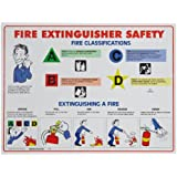 "Brady FESP 18"" Height, 24"" Width, Fire Extinguisher Safety Poster"
