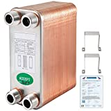 "BestEquip Heat Exchanger 3""x7.5"" 50 Plates Brazed"