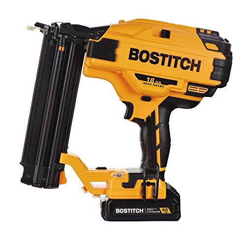BOSTITCH BCN680D1 20V MAX 18 Gauge Cordless Brad Nailer (Includes Battery and Charger)