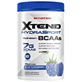 Scivation Xtend Hydrasport BCAA Powder, Branched Chain Amino Acids, BCAAs, Zero Sugar Electrolyte Drink Powder + Hydration, Blue Raspberry, 30 Servings Review