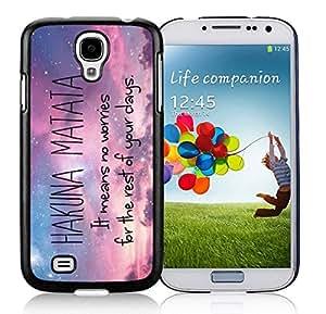 Best Buy Design Hakuna Matata Hard Plastic Samsung Galaxy S4 I9500 Black TPU Cover Case,Samsung I9500 Protective Skin