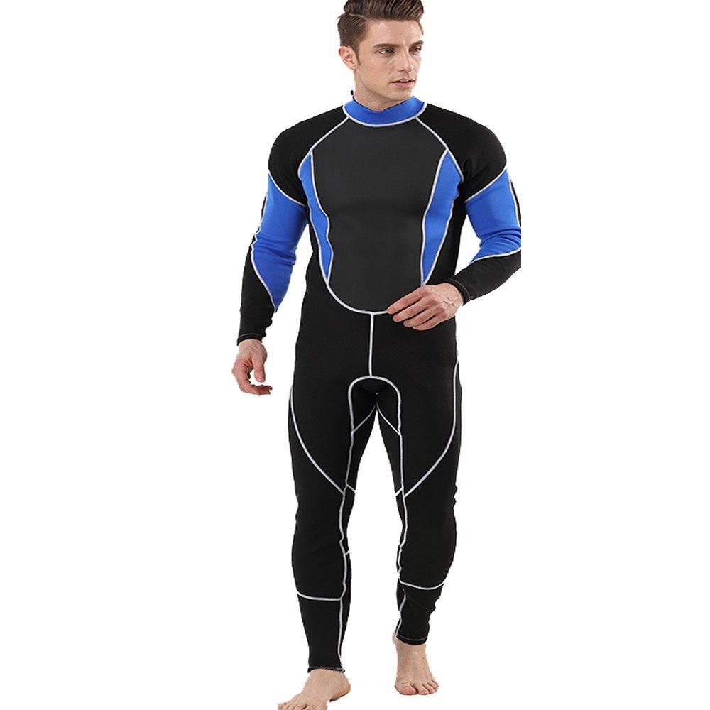 bleu XX-grand Xiaoqin Combinaison de plongée 2MM néoprène Froid Chaud Longue plongée Costume Maillot de Bain Convient pour Les Sports d'aventure de Haute mer (Couleur   noir, Taille   M)