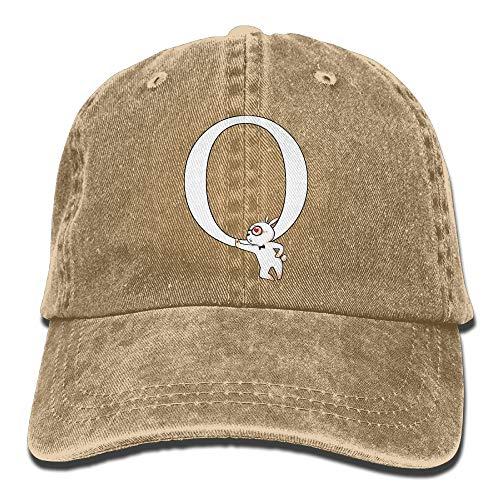 ZHIYANG Qanon Rabbit Gentleman Washed Denim Adult Cowboy Hat Vintage Trucker Hat Trendy Baseball Cap Tennis Cap Visor
