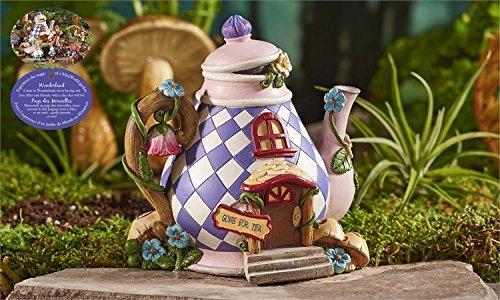 Mini World by Giftcraft Miniature Fairy Garden Wonderland Assortment (Teapot House)