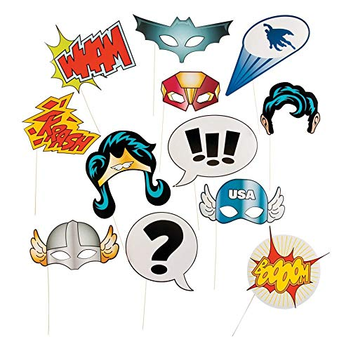 Fun Express 13659365 Super Hero Stick Costume Props -
