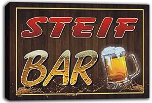 scw3–102616steif nombre home Bar Pub Beer mugs Cheers estirado canvas print Sign