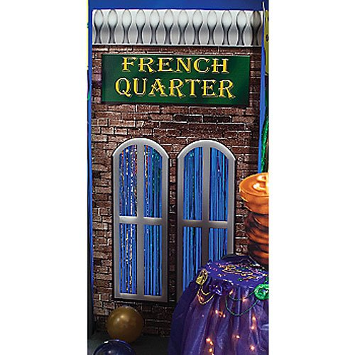 - 7 ft. 5 in. Mardi Gras Masquerade French Quarter Building Standee Standup Photo Booth Prop Background Backdrop Party Decoration Decor Scene Setter Cardboard Cutout