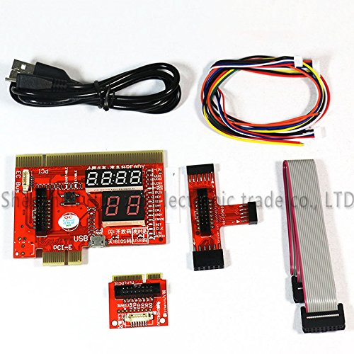Diagnostics Card Test Pci Post (KQCPET6-H V4 2 In1 Laptop And Desktop PC Universal Diagnostic Test Debug King Post Card Support For PCI PCI-E Minipci-E LPC)