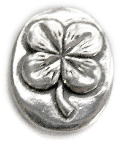 Basic Spirit 4 Leaf Clover / Good Luck Pocket Token (Coin) * Handcrafted Pewter Home Lead-Free CN-32 ()