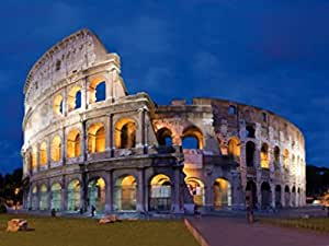 Rome Poster Photo Wallpaper - Colosseum At Twilight, 2 Parts (95 x 71 inches)