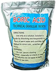 500g (1.1lb)Boric Acid Flake Magic Fishscale 99.9% Pure Anhydrous, Highly Effective Multi-Purpose for Lab Courtyard Pets Kitchen, Industrial Grade Strength