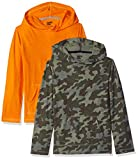 Spotted Zebra Big Boys' 2-Pack Hooded Long-Sleeve T-Shirts, Camo, Medium (8)