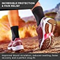 Ankle Brace Support Compression Sleeve Foot Support for Plantar Fasciitis - Achilles Tendonitis - Arch Heel Spurs-Pair Socks for Womens - Men - Kids -Best for Running from PURE SUPPORT