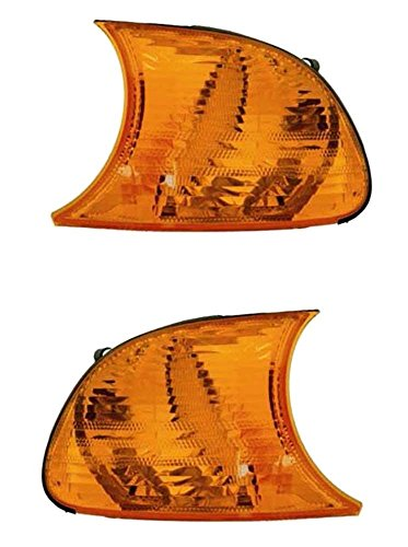 2000-2001 BMW 3-Series (E46 2-Door Coupe & Convertible Models Only) 323Ci 325Ci 328Ci 330Ci M3 Amber Corner Park Light Turn Signal Marker Lamp Pair Set Right Passenger AND Left Driver Side (00 01) - 2 Door Convertible