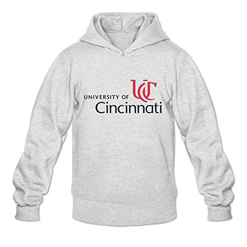 University Of Cincinnati Logo Geek Roundneck Ash Long Sleeve Sweatshirt For Mens Size XXL