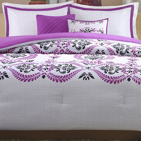 Intelligent Design Blaire Comforter Set - Purple - Twin/Twin XL