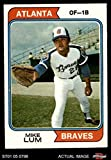 1974 Topps # 227 Mike Lum Atlanta Braves (Baseball Card) Dean's Cards 4 - VG/EX Braves